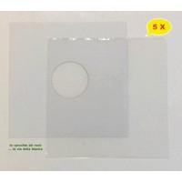 SET - Copertina BIANCA + Busta PE per Vinile dischi 78 Giri - Qtà 5