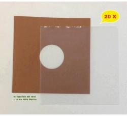 SET - Copertina MARRONE + Busta PE per Vinile dischi 78 Giri - Qtà 20