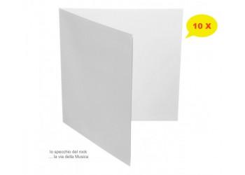 """Copertine Cartone per LP & DLP 12"""" Gatefold BIANCHE - Qtà 10"""