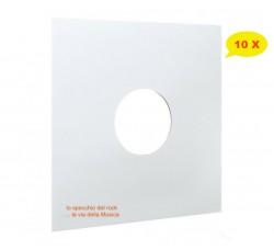 Copertine per LP con foro - Colore BIANCO - Dorso 3 mm - Forza 300gr mc 2 - Qtà 10