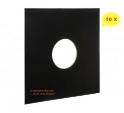 Copertine per LP con foro - Colore NERO - Dorso 3 mm - Forza 300gr mc 2 - Qtà 10