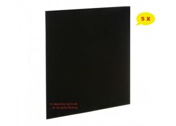 """Copertine per LP /12"""" COLORE NERO -  Senza foro dorso mm3 - Qtà 5"""