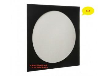Copertine Cartoncino per Vinili PICTURE DISC colore NERO - Qtà 5
