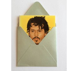 "Caricatura John Christopher ""Johnny"" Depp "" Bigliettino D'auguri"