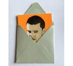 Caricatura Justin Randall Timberlake  - Bigliettino con bustina