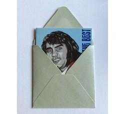 George Best  Caricatura -  Bigliettino con bustina