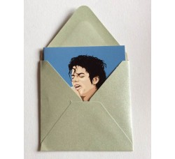 Michael  Jackson Caricatura – Bustina con bigliettino d'auguri