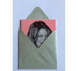 Kylie Minogue Caricatura - Bigliettino con bustina