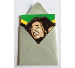 Bob Marley  Caricatura - Bigliettino con bustina
