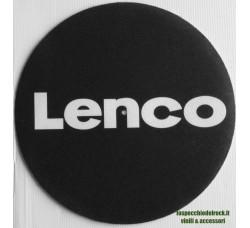 LENCO - LOGO BIANCO - Tappetino Slipmats per giradischi (1) Pezzo