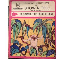 Lo scimmiottino color di rosa  - Diapositiva e Disco per Fonovisore