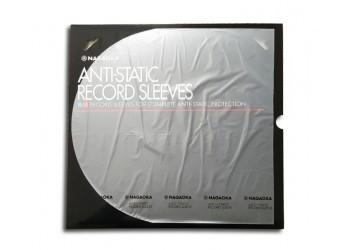 """Nagaoka - Manicotti  Antistatici per LP 12""""  DELUXE  con angoli arrotondati - Qtà 50"""