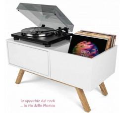 GLORIOUS - Tavolo Mobile  in Legno per Giradischi, Dischi, Amplificatore
