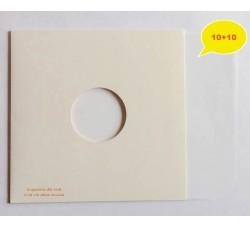 Copertine colore BIANCO con Manicotti DELUXE BIANCO SAGOMATO per DeeJay Dischi Mix - Qtà 10+10