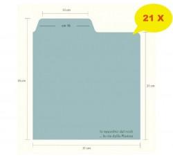 Separatore Divisore per Dischi Vinili [33 GIRI] - Flap cm 16 - Mod Inglese  - Qtà 21