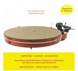 ANALOGIS -Tappetino Panno per piatto del  Giradischi  in Gomma/Sughero  mm 3,0