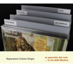 Separatore per LP DELUXE - Colore GRIGIO - Bordi arrotondati