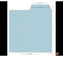 Separatore per LP Mod. INGLESE - Colore BIANCO  - Flap cm 14
