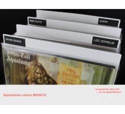 Separatore per LP DELUXE - Colore BIANCO - Bordi arrotondati