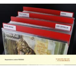 Separatore per LP DELUXE - Colore ROSSO - Bordi arrotondati