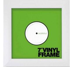 """Glorious SET di (TRE)  Cornici  per dischi Vinili 7"""" Pollici 45 GIRI (Colore BIANCO)"""