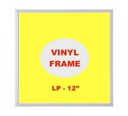 Cornice con bordi di Alluminio colore silve per Dischi Vinili LP