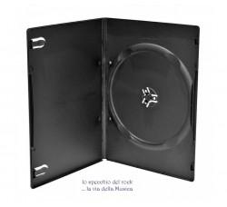 Custodia Singola Slim - Colore NERO per DVD o CD - Qtà 10