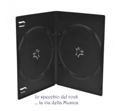 Custodia Doppia colore NERO  per DVD o CD - Qtà 10