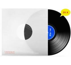 Manicotti per LP  Colore BIANCO - SFODERATI i - Angoli RETTI - Qtà 25