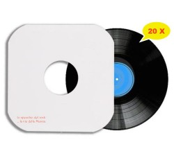 Manicotti di carta Patinata 140 gr per LP (COLORE BIANCO)  Angoli SAGOMATI - Qtà 20