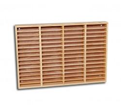 Rack Cassettiera in legno da 60 Musicassette - Colore Pino