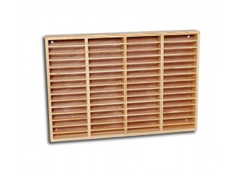 SR - Espositore in legno da 60 Musicassette - Colore PINO