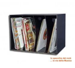"""Contenitore da parete o tavolo per 80 dischi vinili 45 Giri -7"""" pollici"""