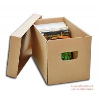 CONTENITORE BOX di CARTONE ondulato per 200 Dischi Vinile 45 Giri.