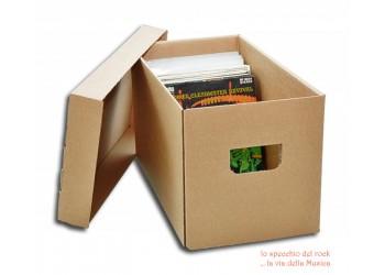 MUSIC MAT - Scatola Contenitore con coperchio - Contiene  200 dischi 45 giri