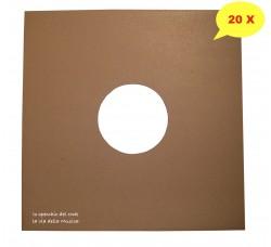 COPERTINE colore AVANA per dischi vinili 78 giri – 10 Pollici - Qtà 20
