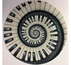 Slipmat Tappetino IPNOTICO per giradischi - PIANOFORTE