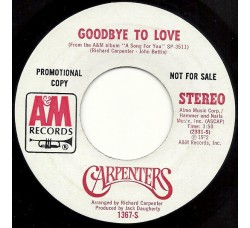 Carpenters ‎– Goodbye To Love
