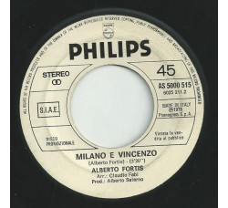 Alberto Fortis / Bee Gees – Milano E Vincenzo / Rest Your Love On Me - 45 RPM, Promo