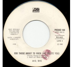 AC/DC / Gino Soccio ‎– For Those About To Rock (We Salute You) / It's Alright – Jukebox