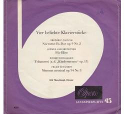 Erik Then-Bergh – Vier Beliebte Klavierstücke  – 45 RPM