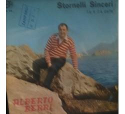 Alberto Berri – Stornelli sinceri - 45 RPM