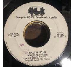 I Pooh  / Walter Foini – Chi Fermerà La Musica / Non Va Che Torno - (juke box)