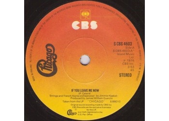 Chicago  – If You Leave Me Now
