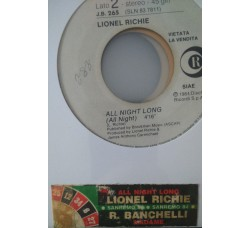 Rodolfo Banchelli / Lionel Richie ‎– Madame / All Night Long (All Night) -  (Single jukebox)