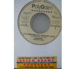 Bryan Adams / Banderas ‎– (Everything I Do) I Do It For You / It's Written All Over My Face  -  (Single jukebox)