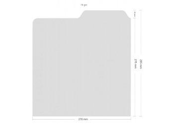 Separatore Sagomato per Dischi 78 Giri Altezza cm 27  Colore Bianco