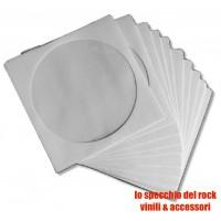 Bustine Carta bianche ANTIGRAFFIO per  CD/DVD - Qtà 50