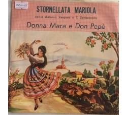 Antonio Vasquez e T. Santonocito - Donna Mara e Don Pepè - Single 45 Giri