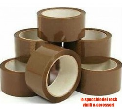 SYROM - Nastro imballaggio professionale  silenzioso mt 132 - Qtà 6 Rotoli
